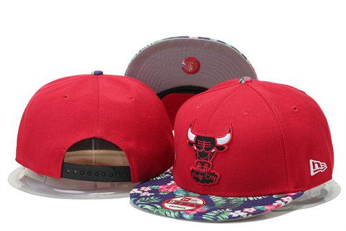 Chicago Bulls Snapback Red Hat GS 0620
